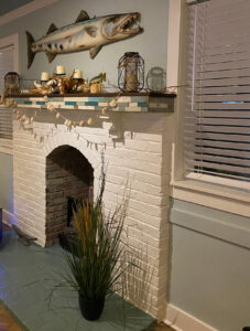 White Fireplace In Home